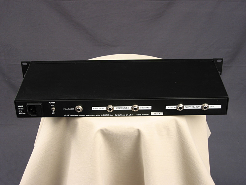 Alembic F1 X Bass Preamp At Guitar Rez Alembic Tube Bass Preamp